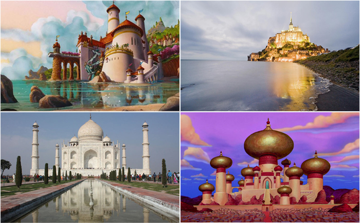 15 удивительных мест, вдохновивших Диснея на создание их мультипликационных копий