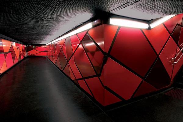 Станция Drassanes (Барселона, Испания)
