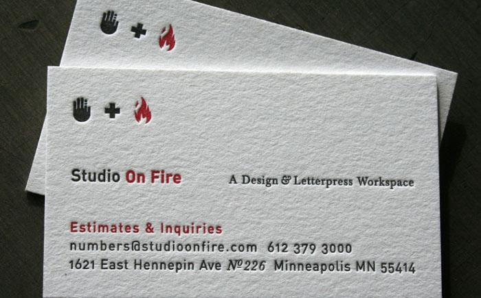 Визитки от компании Studio on Fire