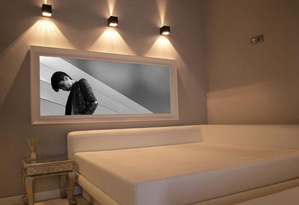 Оригинальные светильники в спальне