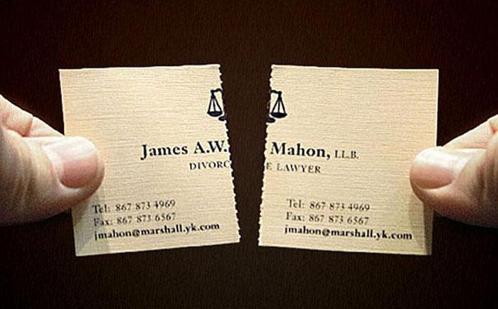 Визитка адвоката по разводам