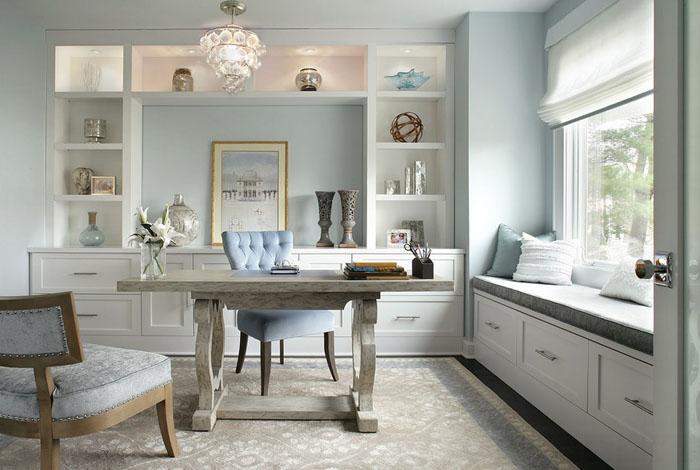 Интерьер домашнего офиса от Jennifer Pacca Interiors