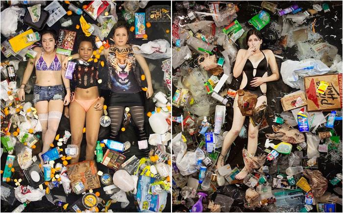 После девочек мусора тоже много