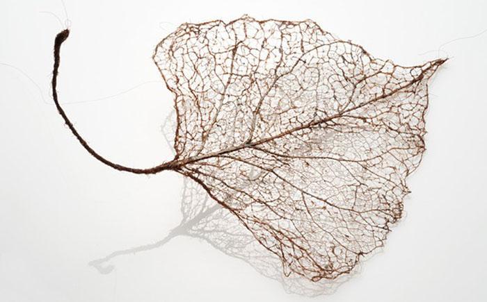 Листья из человеческих волос