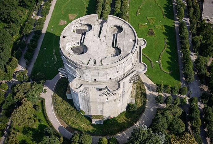 Заброшенная зенитная башня Flakturm VII (Вена, Австрия)