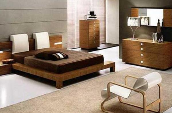 Спальня в коричневой цветовой гамме