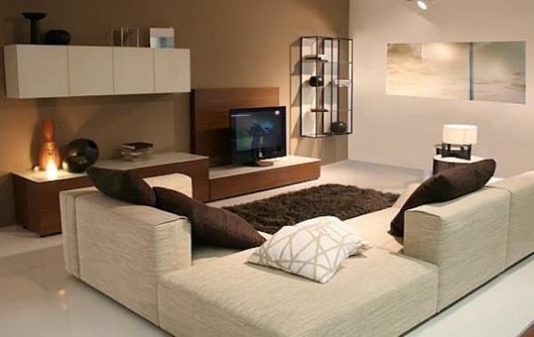 Уютная гостиная в холостяцкой квартире