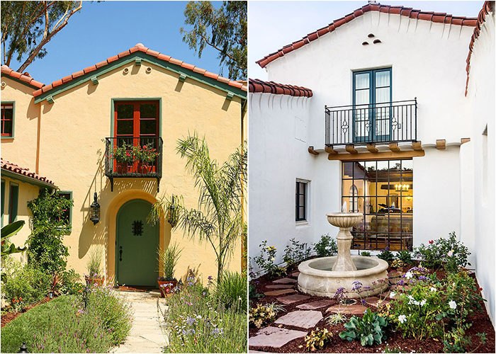 Дома в испанском колониальном и средиземноморском стилях