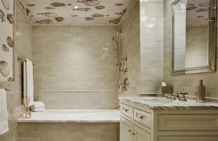 Интерьер ванной от Ronnette Riley Architect