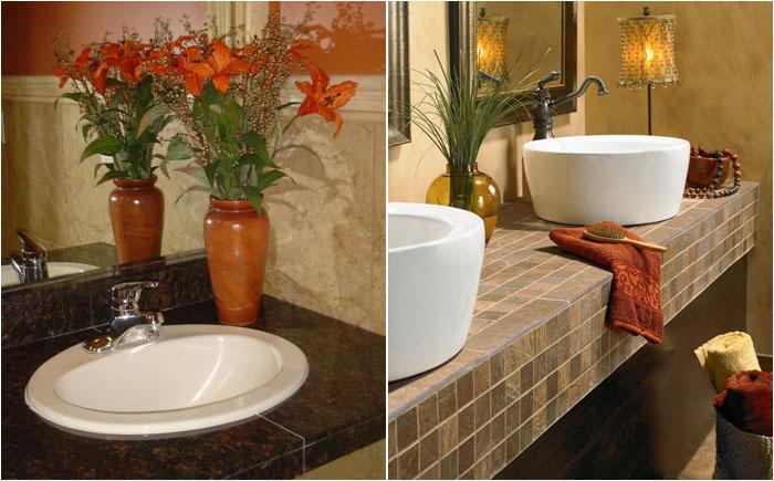 Как выбрать столешницу для ванной комнаты: плюсы и минусы самых популярных материалов