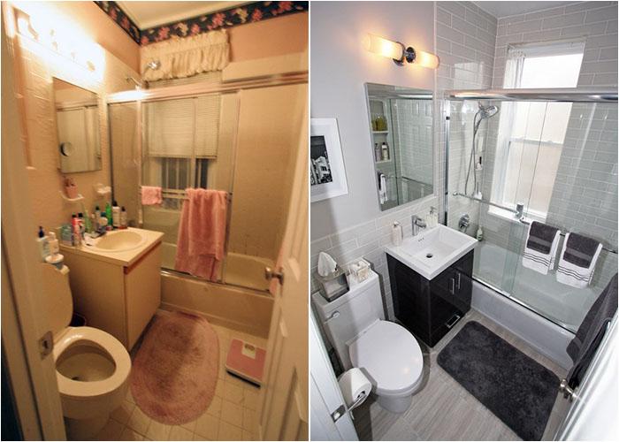 Ванная до и после