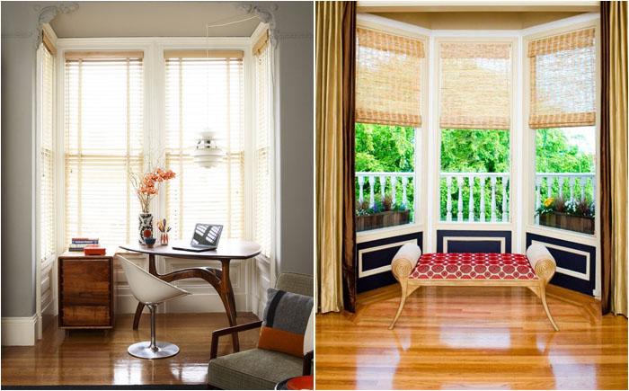 Стильные идеи оформления окна с нишей – уголка для отдыха и работы