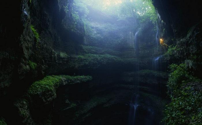 Пещера ласточек, Акьюс Мон, Мексика