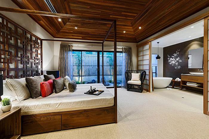 Огромная спальня в азиатском стиле от Webb & Brown-Neaves