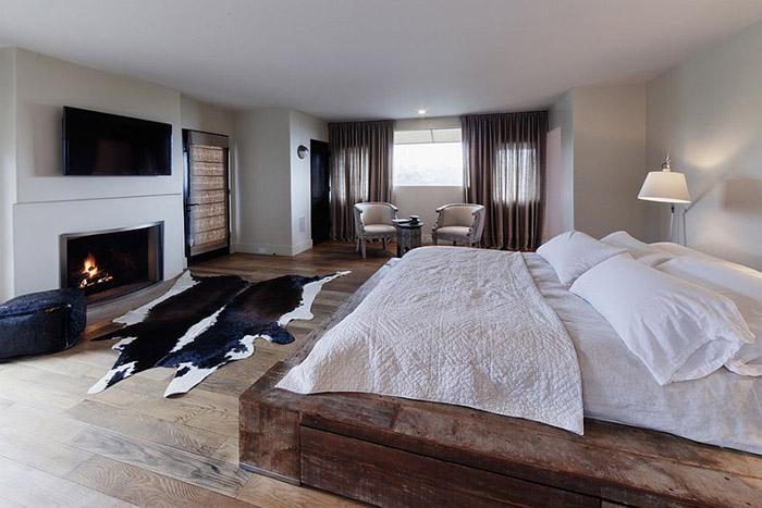Деревянная платформа для кровати от Devall Designs & Home
