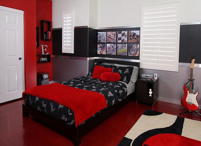 Интерьер в красно-чёрных тонах от Cynthia Prizant – Prizant Design