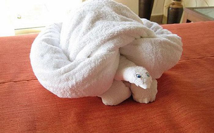 Черепаха из полотенец