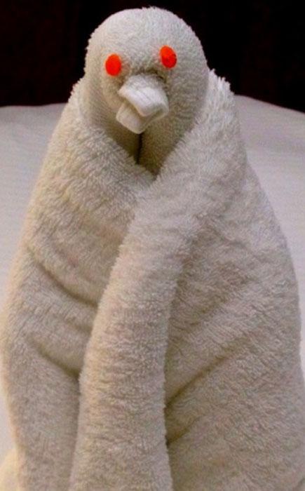 Пингвин из полотенца