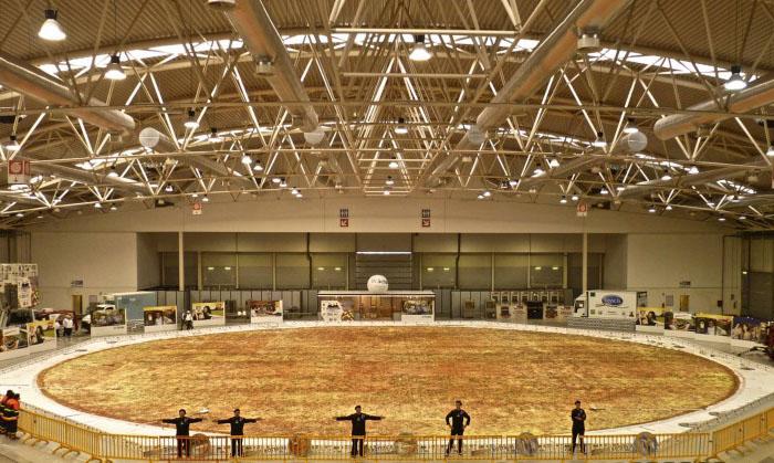 Самая большая в мире пицца