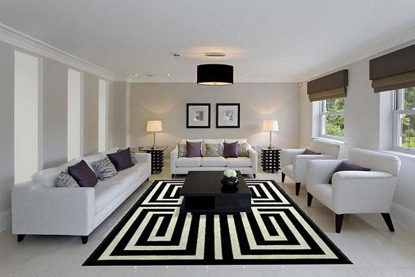 Чёрно-белый ковёр от Madison Lily Rugs