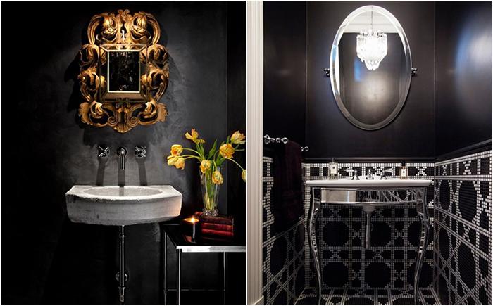Как добиться гармонии: 11 потрясающе красивых ванных комнат в чёрном цвете