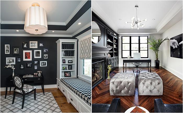 30 потрясающих домашних офисов в черно-белой гамме от лучших дизайнеров мира