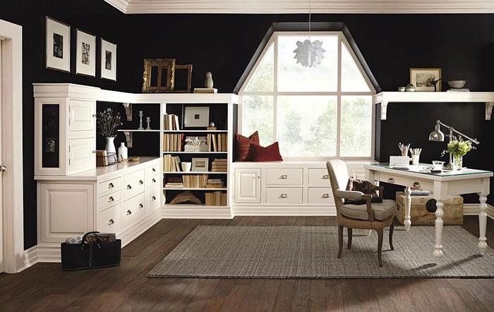 Интерьер дом ашнего офиса от MasterBrand Cabinets
