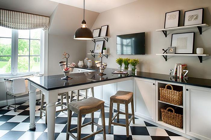 Интерьер домашнего офиса от Studio M Interiors