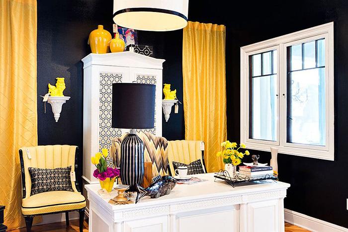 Интерьер домашнего офиса от Abbe Fenimore – Studio Ten 25