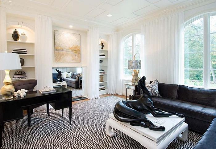 Интерьер домашнего офиса от Tiffany Eastman Interiors
