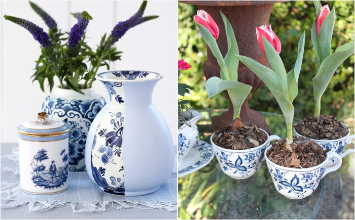 Классическая бело-голубая керамика в интерьере: новый взгляд на привычные вещи
