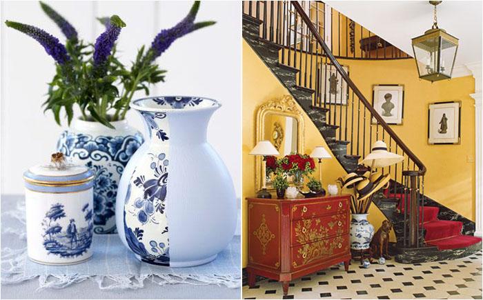 В фарфоровую вазу можно поставить цветы, а можно и шляпы