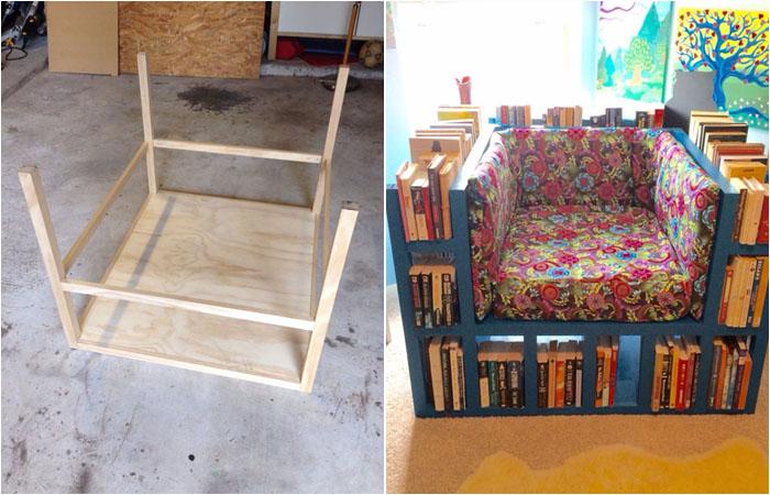 Самое удобное кресло для книголюбов своими руками