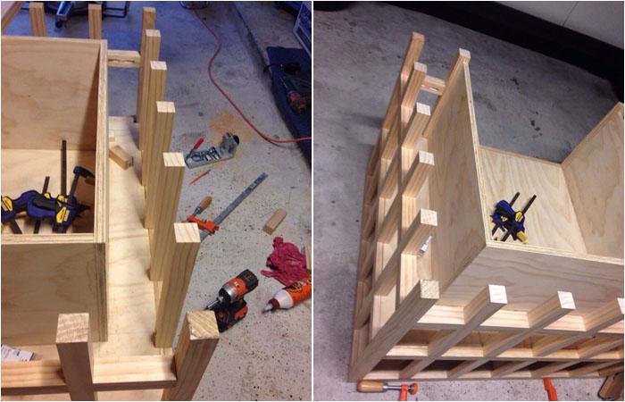 Завершение конструирования боковых и тыльной сторон конструкции