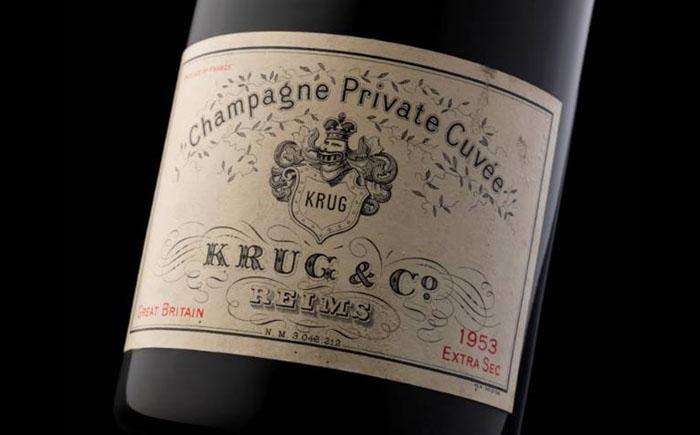 Шампанское сорта кюве из частной коллекции Круга