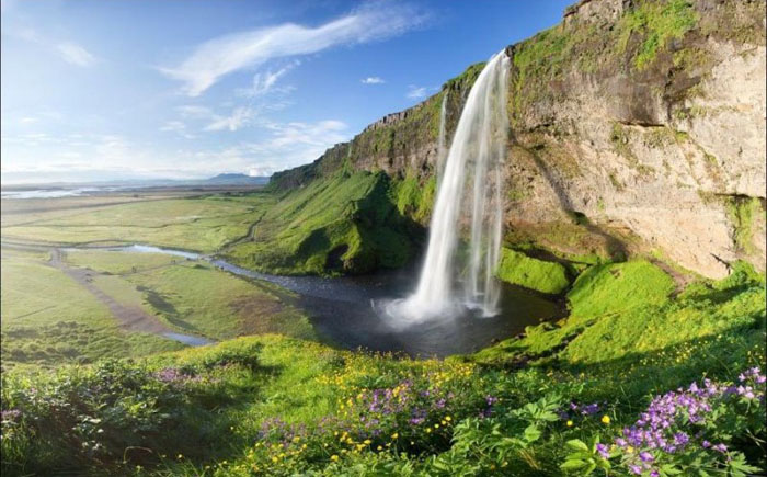 Водопад Сельяландсфосс (Исландия)