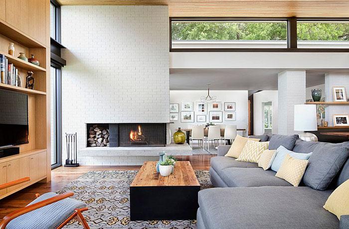 Интерьер гостиной от Allison Burke Interior Design