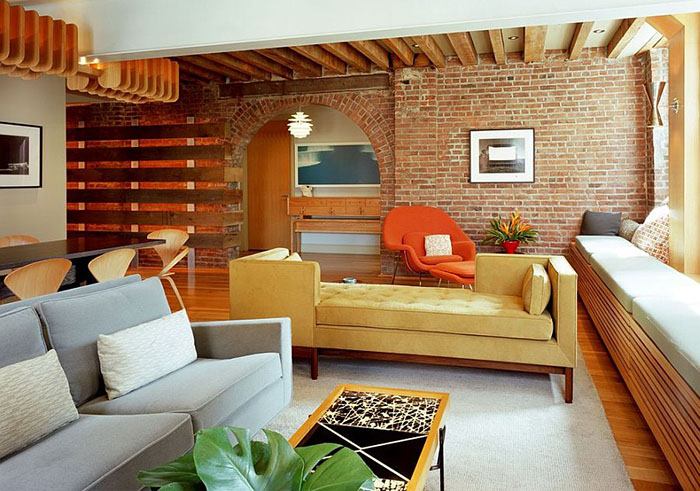 Интерьер гостиной от BarlisWedlick Architects, Tribeca Studio