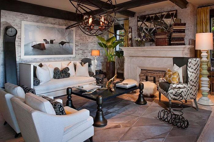 Интерьер гостиной от Green Couch Interior Design