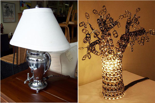Оригинальные лампы: из мусора в шедевры