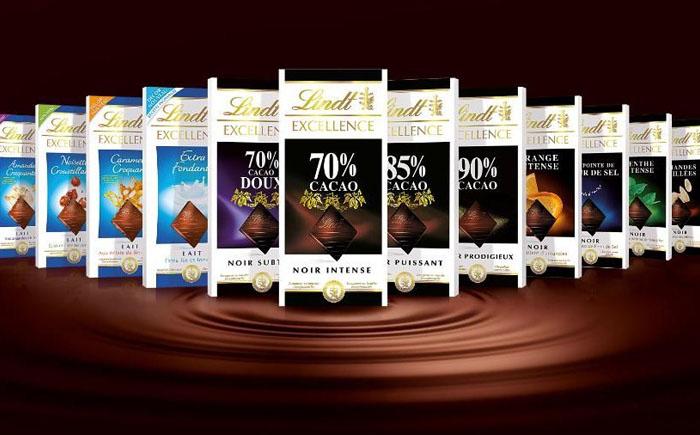 Шоколад компании Lindt