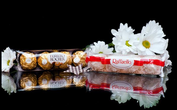 шоколадные конфеты Ferrero Rocher и Raffaello