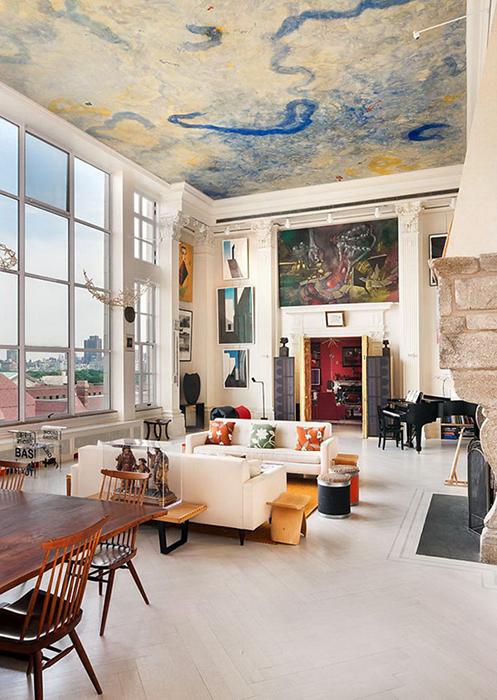 Роспись на потолке - для самых стильных помещений