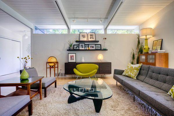 Низкая мебель при невысоких потолках