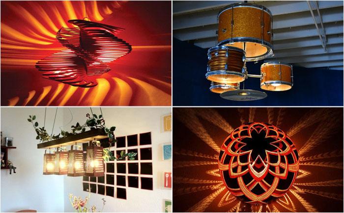 20 потрясающих светильников, которые можно сделать своими руками из подручных средств