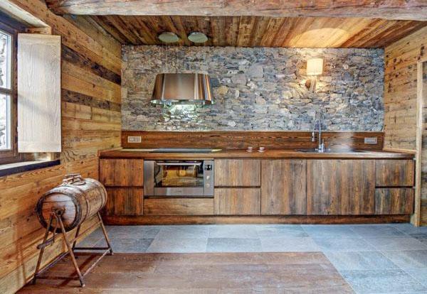 Кухня в шале