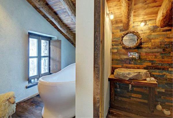 Ванная комната в шале от Тани Хауг
