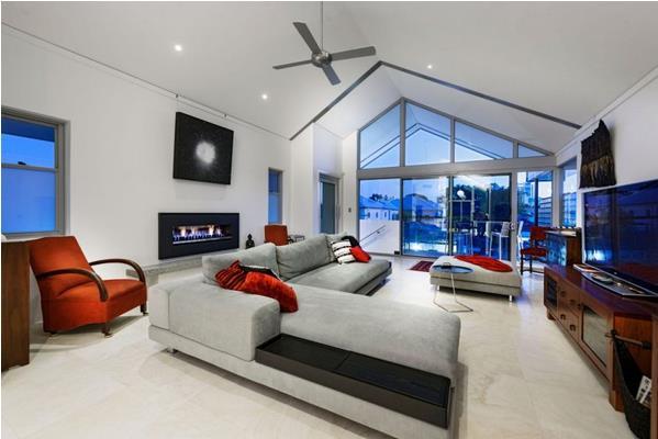 Chatsworth residence for Hi tech living room designs