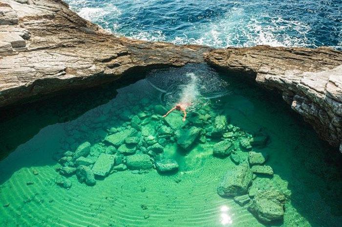 Остров Гиола, природный бассейн, Тасос Греция