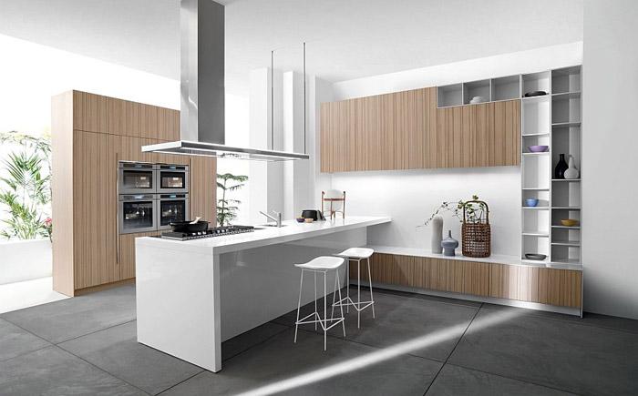 Тепло дерева в интерьере кухни